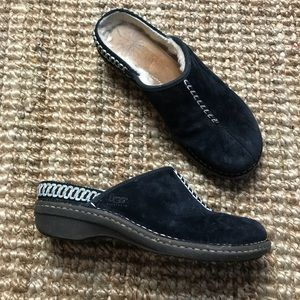 Ugg Shoes Clogs Slip Ons Black Moccasins W 6.5